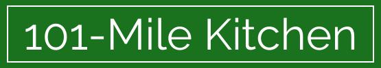 101-Mile Kitchen logo- green bar