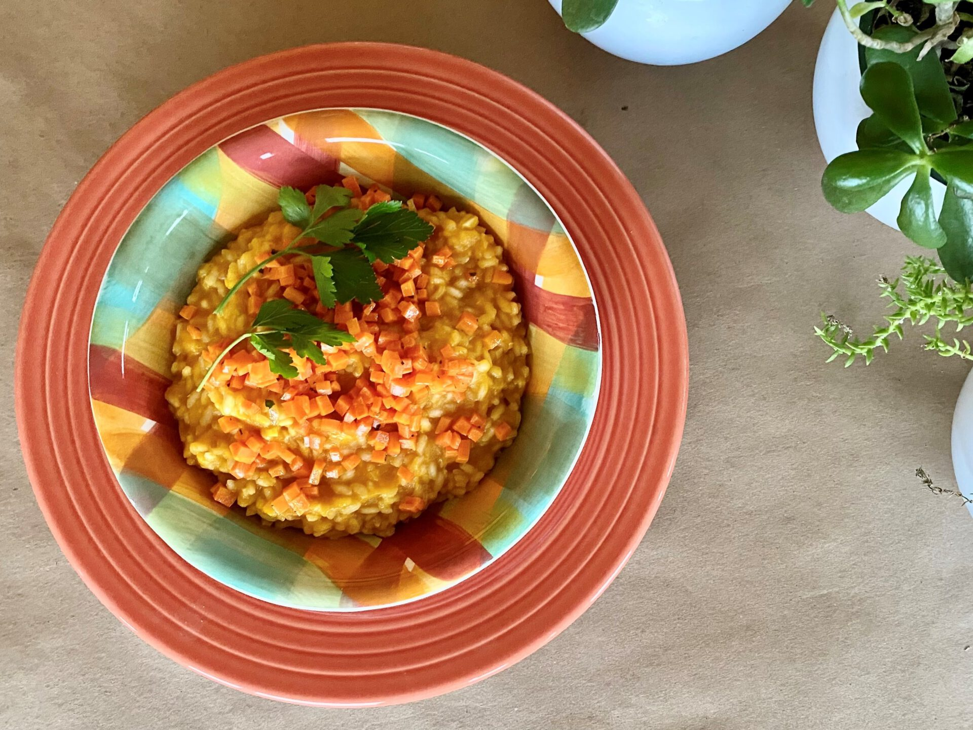 Carrot Risotto in bowl