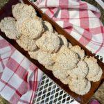 hazelnut meringue cookies on a plate